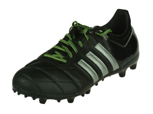 Adidas ACE 15.3 FGAG Leather (zwart) Voetbalschoenen