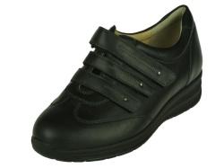 Durea-steun- gemakschoenen-klittenbandschoen Zwart1