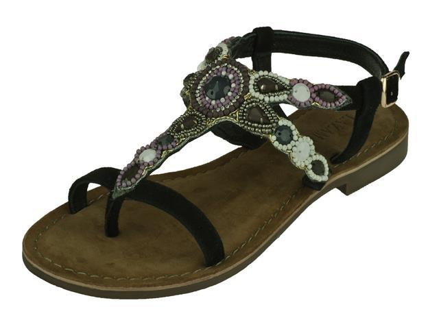 De damesschoen lazamani dames sandaal sandalen in de kleur zwart lazamani modieuze luxe sandaal kleur zwart ...