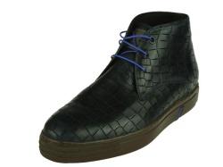 Floris Van Bommel-halfhoge schoen-Enkelboot blauw1