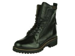 Piedi Nudi-halfhoge schoen-Veterboot zwart1