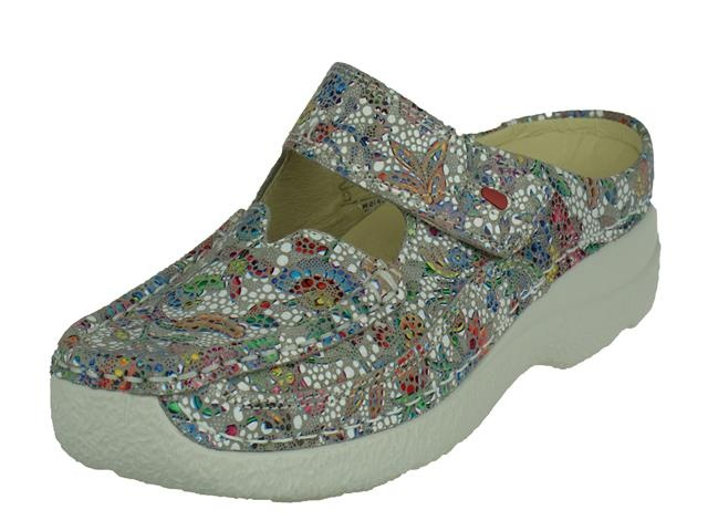 Wolky Roll Slipper mosaic suede